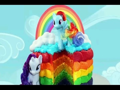 RAINBOW CAKE! How to Make a My Little Pony Rainbow Layer Cake with Cupcake Addiction