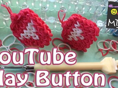 Rainbow Loom Band YouTube Play Button Charm