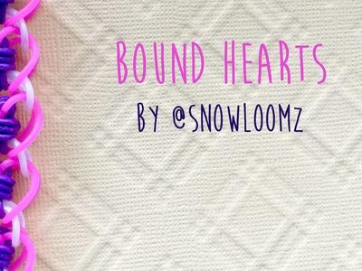Rainbow Loom Bands Bound Hearts by @SnowLoomz