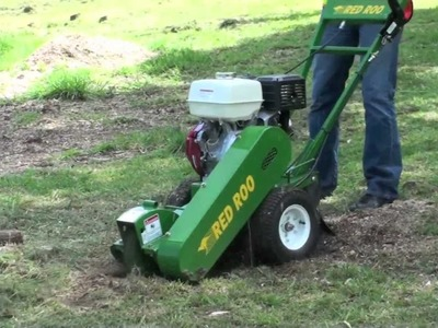 Red Roo: Easy to use SG250 Stump Grinder at home