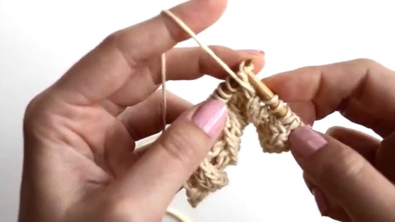 Stricken lernen: Der Backloop Rib
