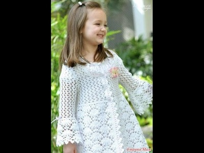 VERY EASY crochet cardigan. sweater. jumper tutorial - baby and child sizes 19