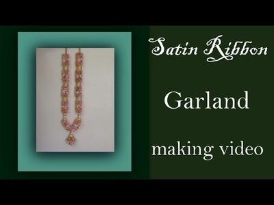 Wedding garland with satin roses tutorial