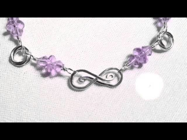 Alexandrite Color Changing Silver Mobius Chainmaille Bracelet