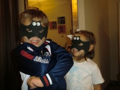 Como hacer una mascara infantil para Halloween - How to make a mask for Halloween child