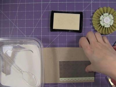 Create a Card - Accordion Fold Flower Card