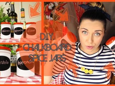 D.I.Y. chalkboard spice jars - Porta spezie con lavagna fai da te