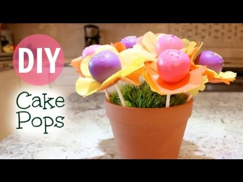 DIY Cake Pop Flower Pot