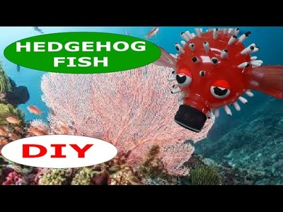 DIY Crafts: How to Make a Hedgehog Fish out of Plastic Bottles