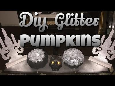 DIY Glitter Pumpkin Decor |Dollar tree pumpkins Ep. 3