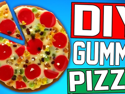 DIY Gummy Pizza! | Eat Pizza For Dessert! | Easy To Make! | Gummy Bear Pizza!