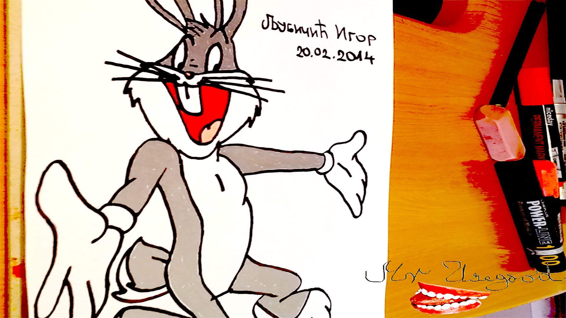 DIY How to draw Bugs Bunny Full Body Easy, draw easy stuff.things but cool on paper | SPEED ART