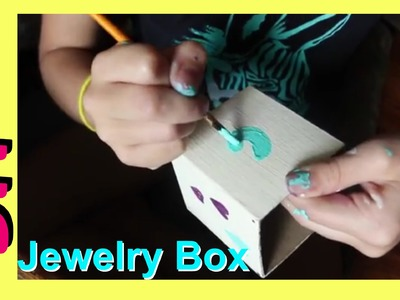 DIY Jewelry Holder | How to Make a Jewelry Box | Cute Box For Anything Jazzy Girl Stuff