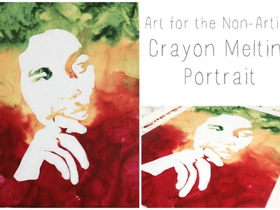 DIY: Melted Crayon Portrait ♡ {Art for the Non-Artist} ♡ Jessica Joaquin