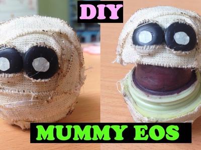 DIY MUMMY HEAD EOS | DIY Cute Halloween EOS Lip Balm