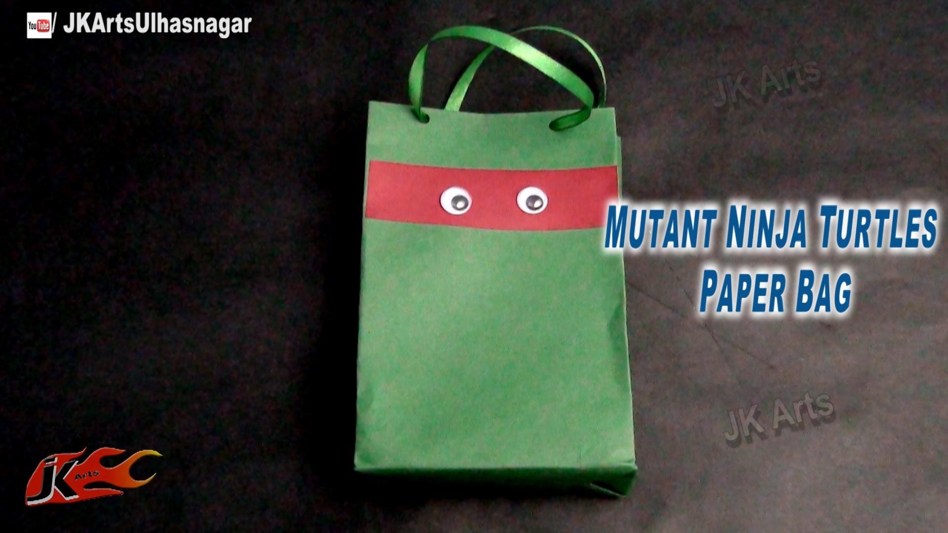 DIY Mutant Ninja Turtles Party Bag   How to make   JK Arts 715