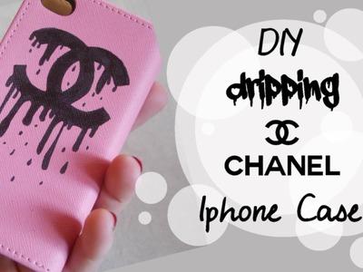 DIY Sad Chanel. Dripping Chanel Iphone case