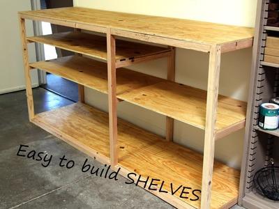 DIY Shop or Garage Shelf for Storage and Organization.   Kreg Pocket Hole project.