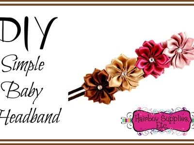 DIY Simple Baby Headband - Hairbow Supplies, Etc.
