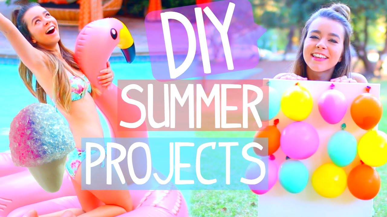 DIY Summer Projects! Room Decor, Activities, Food & more!