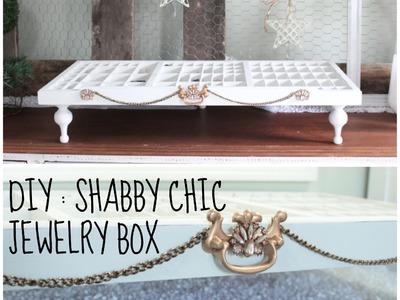 Easy DIY Shabby Chic Jewelry Organizer Box  ( Chalk Paint Finish )