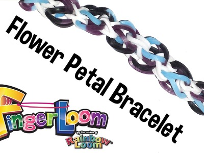 Finger Loom™ Flower Petal Bracelet by Rainbow Loom