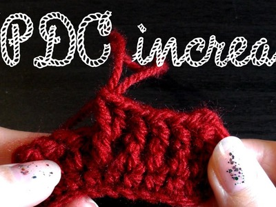 Front post double crochet increase for lefties