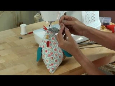 Funky chicken! A quirky little character for you to sew! By Debbie Shore