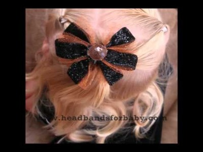 Headbands for Baby:  Make your own Halloween & Fall Baby Hair Bows