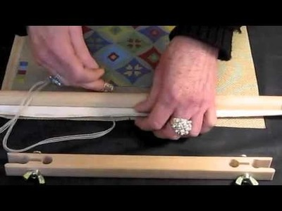 How to attach a needlepoint canvas to a frame