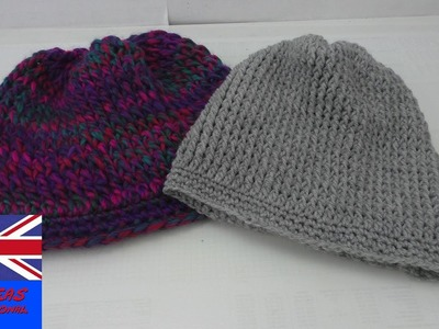 How to crocket a Beanie hat - easy tutorial how to crochet a Beanie - for beginners (english)