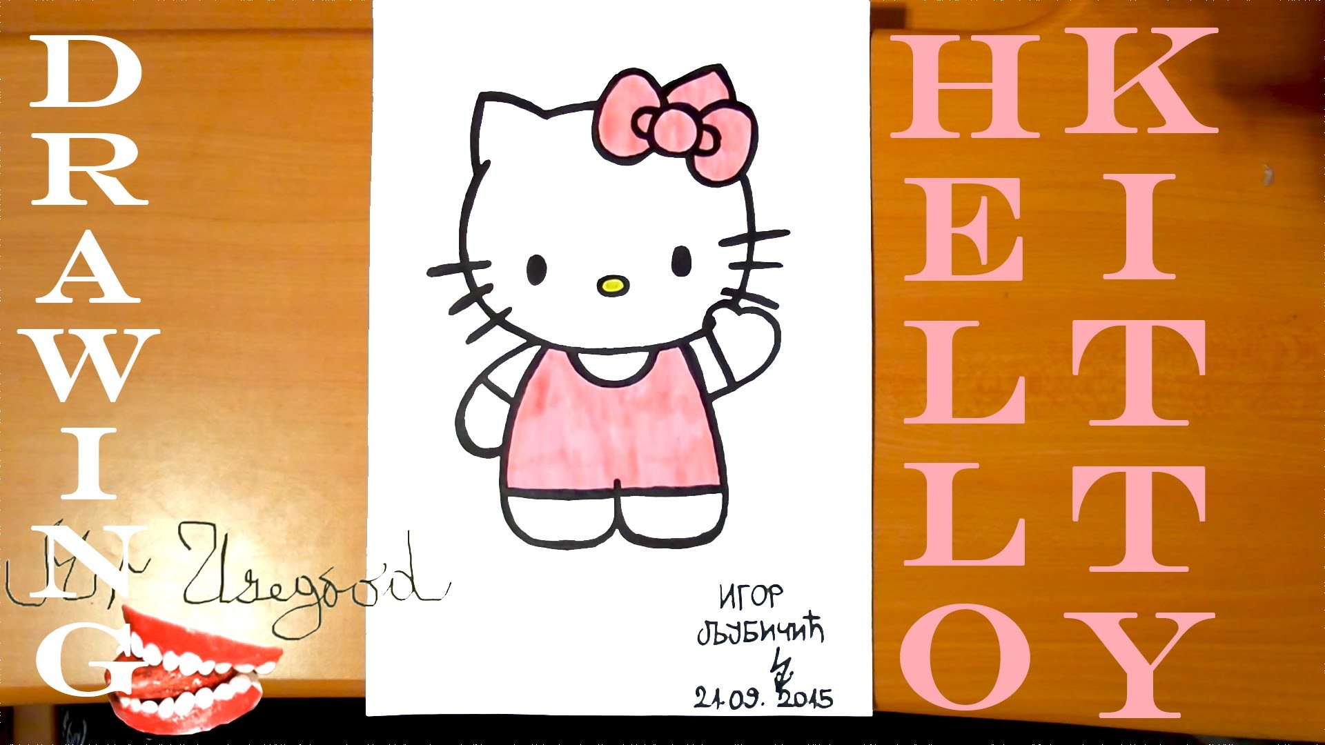 How To Draw Cute HELLO KITTY Easy Full Body Art For Kids Stuff But Cool