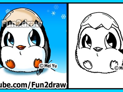 How to Draw for Kids - Super CUTE Baby Penguin - Fun2draw