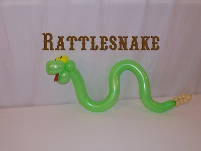 How to make a Balloon Rattlesnake by Stretch the Balloon Dude