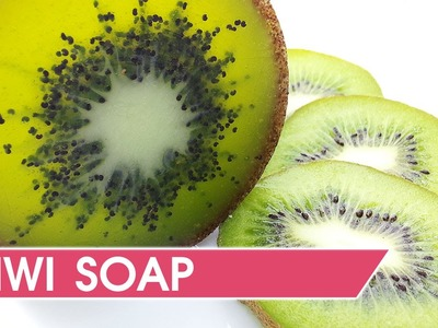 How to make kiwi soap.  DIY & Soap making