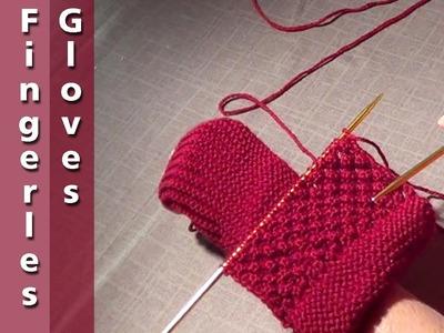 Long Cuff Fingerless Gloves
