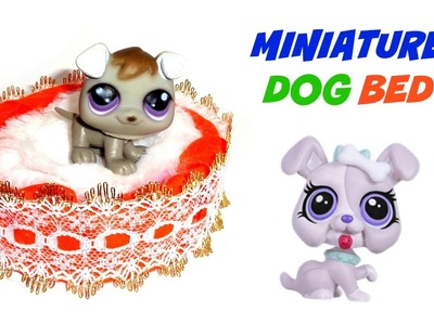 Miniature Dog Bed - DIY LPS Crafts & Doll Crafts