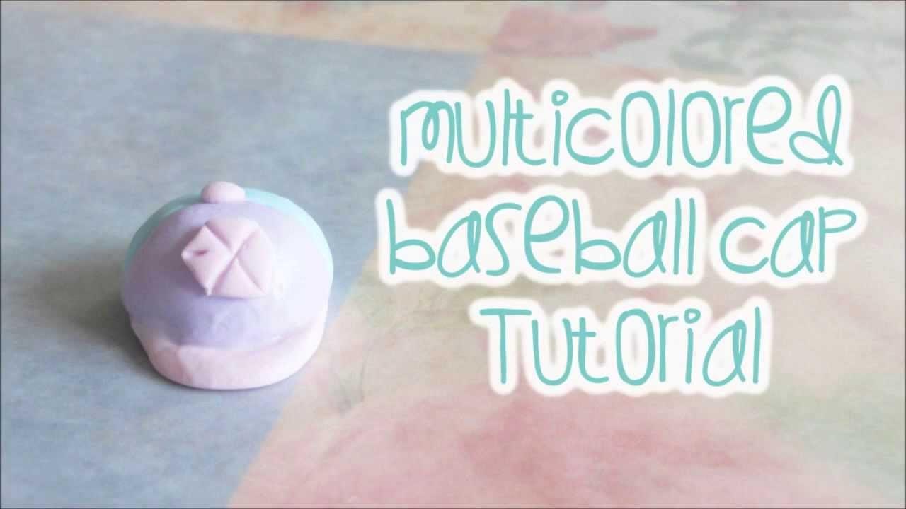 Multicolored Polymer Clay Baseball Cap Charm Tutorial