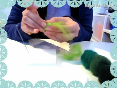 Needle Felting-Felt Ball Making Demo by My Little Thing Co.