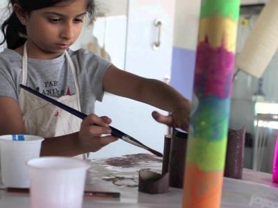 Paper Mache kids workshop at MuscArt