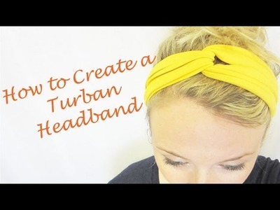 Part 1 of Headband Series: How to Create a Twisted Headband
