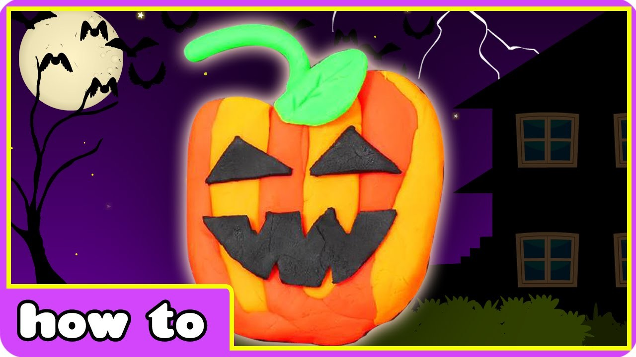 Play-Doh | How To Make Play Doh Halloween Jack o'Lantern |  DIY Halloween Crafts | Play Doh Videos