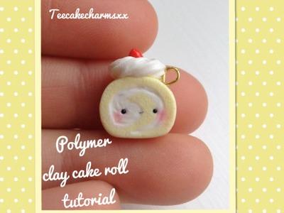 Polymer clay cake roll tutorial
