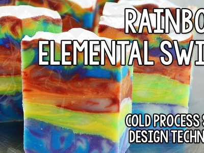 Rainbow Elemental Swirl Soap for Week Two of the Soap Challenge 2013