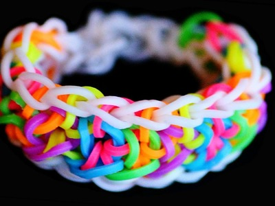 Rainbow Loom Band Sailor Knot Bracelet Tutorial