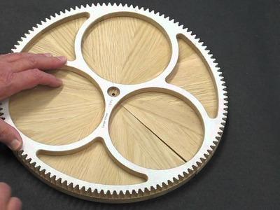 Solaris Clock - Segmented Wood Wheels