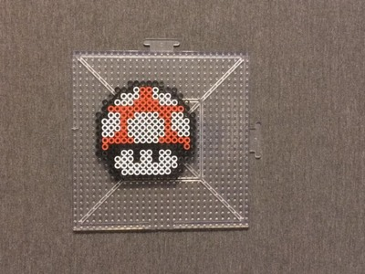 Super Mario: Perler Bead Mushroom