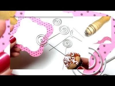 Tool to make wire spirals. Ferramenta para fazer espirais de arame