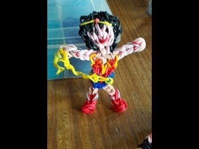 Wonder Woman Action Figure on a Single Loom, Tutorial