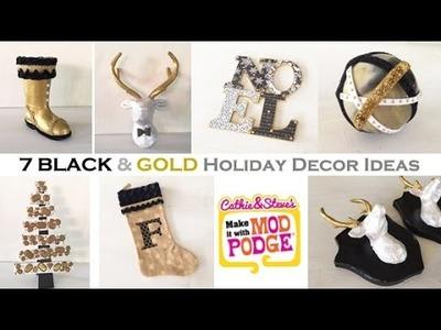 7 Chic Black & Gold Holiday DIY Decor Ideas!